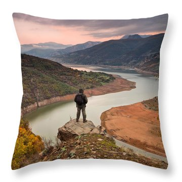 Contemplation Throw Pillow by Evgeni Dinev