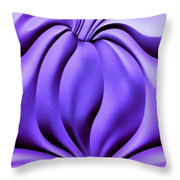 Contemplation In Purple Throw Pillow