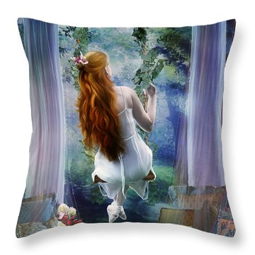 Contemplation Throw Pillow by Mary Hood