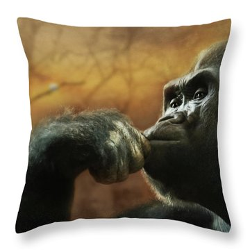 Throw Pillow featuring the photograph Contemplation by Lori Deiter