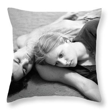 Contemplation, Part 2, 1973 Throw Pillow