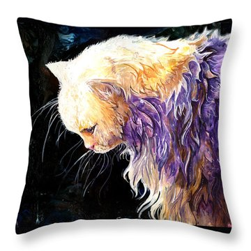 Throw Pillow featuring the painting Contemplation by Sherry Shipley