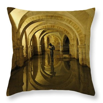 Throw Pillow featuring the photograph Contemplation by Susie Rieple