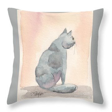 Contemplation Throw Pillow by Terry Taylor