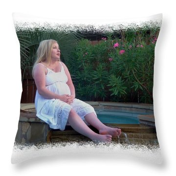 Contemplative Annah Throw Pillow by Ellen O'Reilly