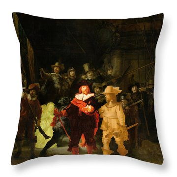 Contemporary 1 Rembrandt Throw Pillow by David Bridburg
