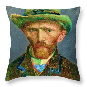 Contemporary 2 Van Gogh Throw Pillow by David Bridburg
