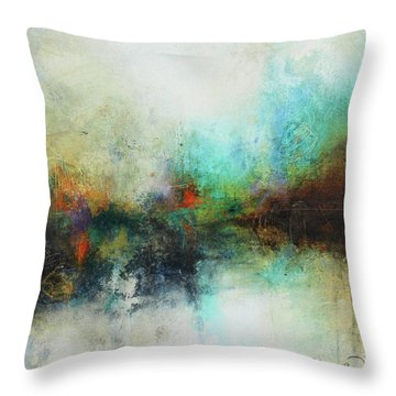 Contemporary Abstract Art Painting Throw Pillow