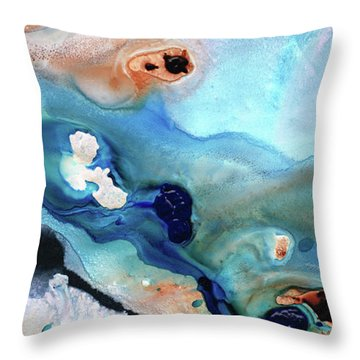 Contemporary Abstract Art - The Flood - Sharon Cummings Throw Pillow