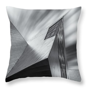 Throw Pillow featuring the photograph Contemporary Architecture Of The Shops At Crystals, Aria, Las Ve by Adam Romanowicz