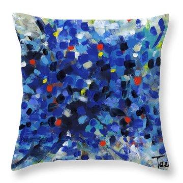 Contemporary Art Fifty Throw Pillow by Lynne Taetzsch