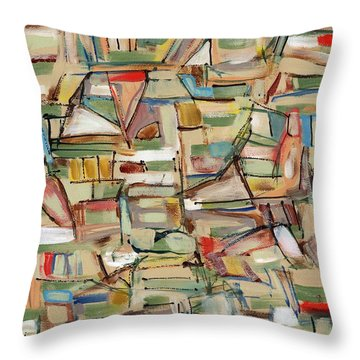 Contemporary Art Forty-eight Throw Pillow by Lynne Taetzsch