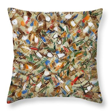 Contemporary Art Forty-seven Throw Pillow by Lynne Taetzsch