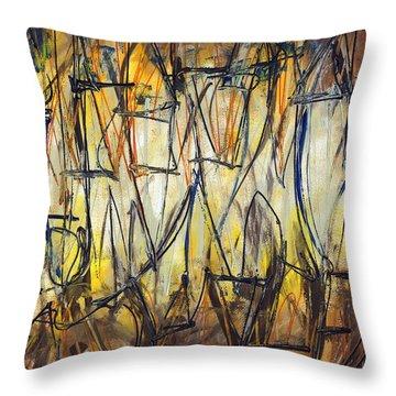 Contemporary Art Three Throw Pillow by Lynne Taetzsch