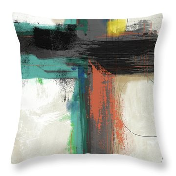 Contemporary Cross 2- Art By Linda Woods Throw Pillow