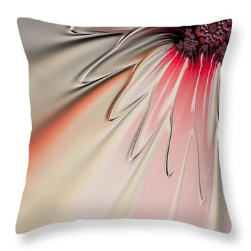 Throw Pillow featuring the digital art Contemporary Flower by Bonnie Bruno