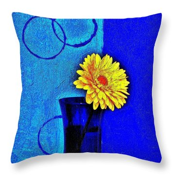 Contemporary Gerber Throw Pillow by Marsha Heiken