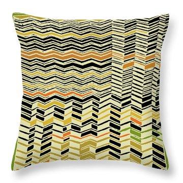 Throw Pillow featuring the digital art Contemporary Kuba Cloth by Vagabond Folk Art - Virginia Vivier