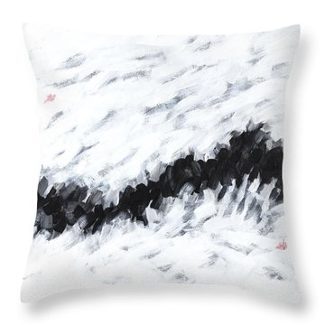 Contemporary Landscape 1of2 Throw Pillow