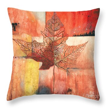 Contemporary Leaf 2 Throw Pillow by Debbie DeWitt