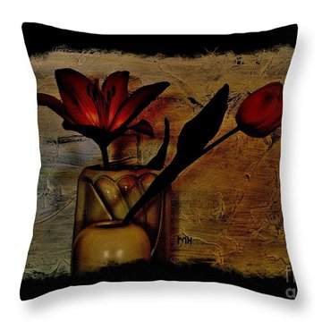 Contemporary Still Life Throw Pillow by Marsha Heiken