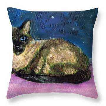 Content Throw Pillow by Darla Joy  Johnson