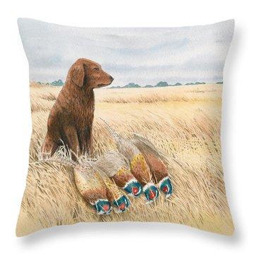 Content Golden Throw Pillow