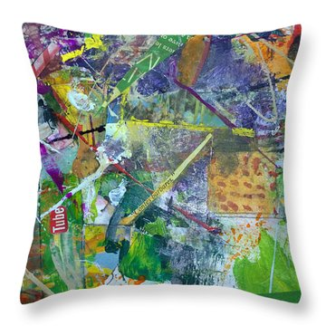 Throw Pillow featuring the painting Contes Barbares by Robert Anderson