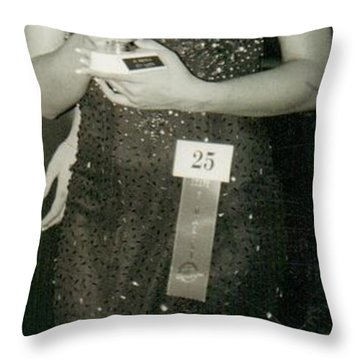 Contestant Number...25 Throw Pillow