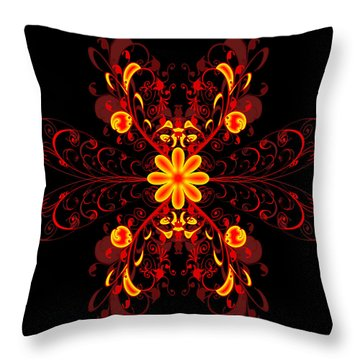Continental Abstract Throw Pillow by Svetlana Sewell