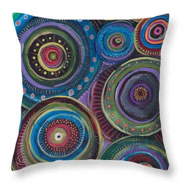 Continuum Throw Pillow by Tanielle Childers