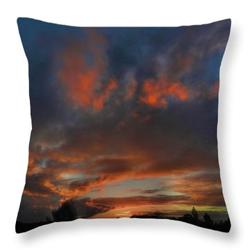 Throw Pillow featuring the photograph Contorted Sunset by Mark Blauhoefer