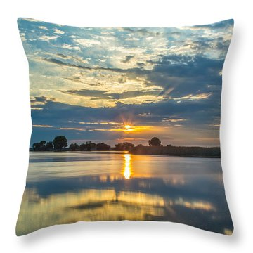 Contra Loma Sun Reflection Throw Pillow by Marc Crumpler