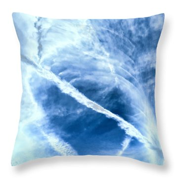 Contrail Concentricities Throw Pillow