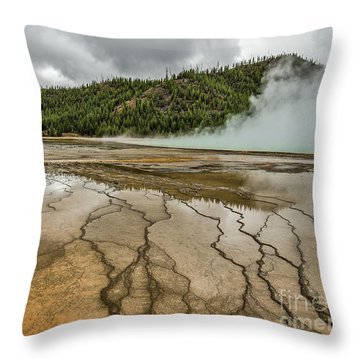 Throw Pillow featuring the photograph Contrasts At Midway Geyser Basin by Sue Smith