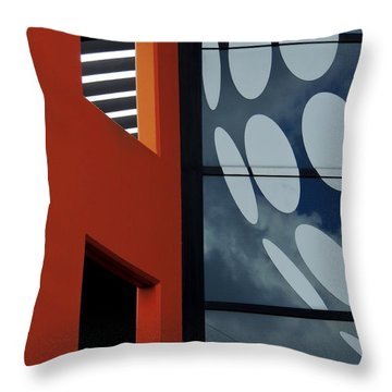Contrasts In Abstract Throw Pillow