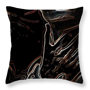 Control Throw Pillow by Tbone Oliver