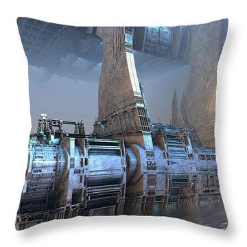 Control Tower Throw Pillow