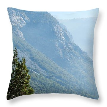 1 Of 4 Controlled Burn Of Yosemite Section Throw Pillow