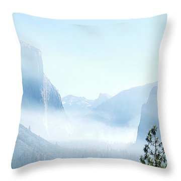 2 Of 4 Controlled Burn Of Yosemite Section Throw Pillow