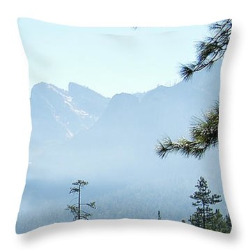 3 Of 4 Controlled Burn Of Yosemite Section Throw Pillow