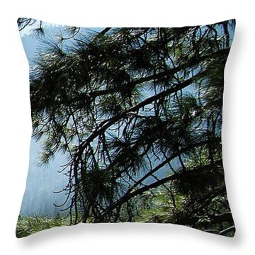 4 Of 4 Controlled Burn Of Yosemite Section Throw Pillow