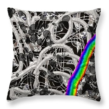 Controversy Throw Pillow by Vannetta Ferguson