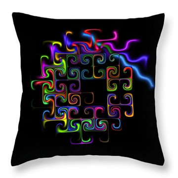 Throw Pillow featuring the digital art Conundrum by Judi Suni Hall