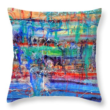 Convection Diffusion Throw Pillow by Regina Valluzzi