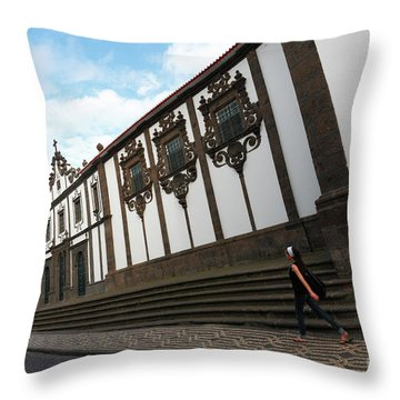 Convent In Azores Islands Throw Pillow by Gaspar Avila