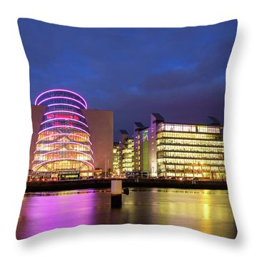 Convention Centre Dublin And Pwc Building In Dublin, Ireland Throw Pillow