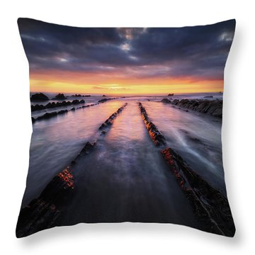 Converging To The Light Throw Pillow