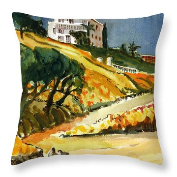Conversation In The Afternoon Throw Pillow