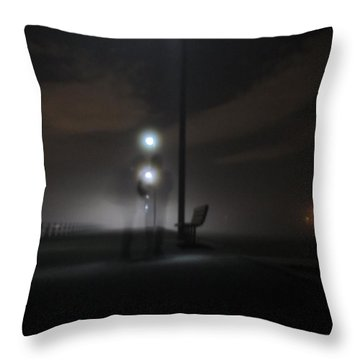 Throw Pillow featuring the photograph Conversation In The Mist by Digital Art Cafe